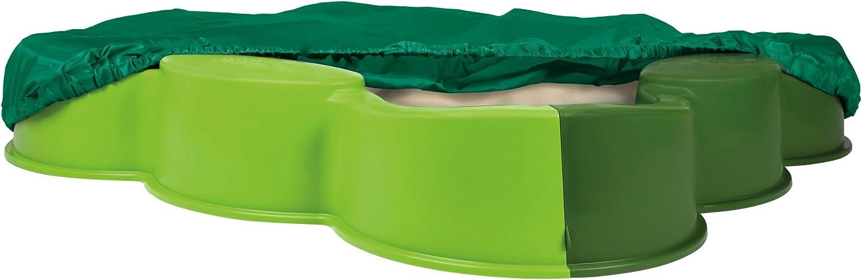 BIG - Cajón de Arena con Cubierta, Color Verde