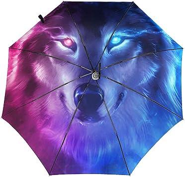 Purple Starry Psychedelic Automatic Tri-Fold Umbrella Parasol Sun Umbrella Sunshade