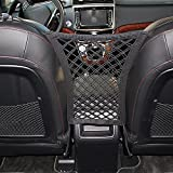 #8: Car Seat Net Organizer, Universal Stretchy Car Backseat Dog Barrier, Cargo Tissue Purse Holder, Driver Storage Netting Pouch, Pet Disturb Stopper, Seat Mesh Obstacle Vehicle Travel Dog Backseat Barrie