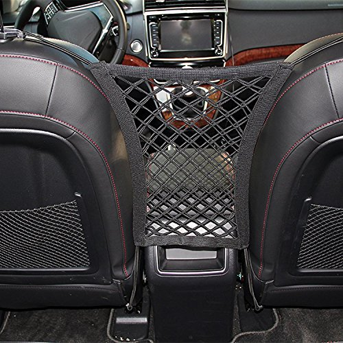 Car Seat Net Organizer, Universal Stretchy Car Backseat Dog Barrier, Cargo Tissue Purse Holder, Driver Storage Netting Pouch, Pet Disturb Stopper, Seat Mesh Obstacle Vehicle Travel Dog Backseat Barrie Purses Net