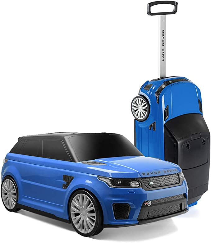 RANGE ROVER TY6108BL Suitcase, Official Sport SVR Convertible Kids Ride On & Suit Case, Blue,Toyrific,TY6108BL