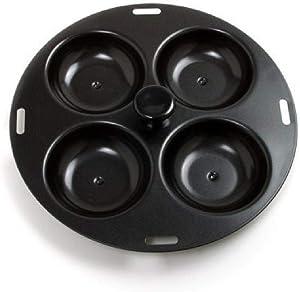 Norpro 992 Nonstick 4-Egg Poacher, 8.5 inch, Black