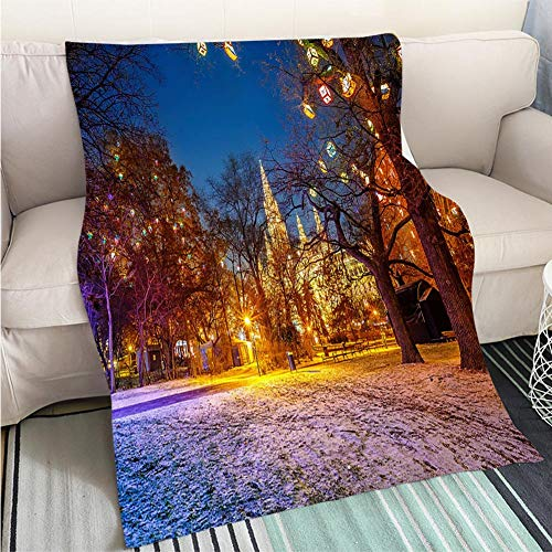 Art Design Photos Cool Quilt Vienna Town Hall and Park Hypoallergenic Blanket for Bed Couch Chair