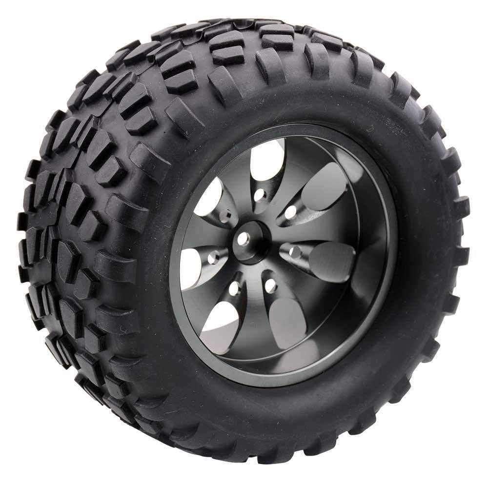 Toyoutdoorparts RC 08008N Alum Gray Wheel&08043 Tires for RedCat 1/10 Nitro Volcano S30 Truck by Toyoutdoorparts (Image #4)