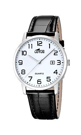 3385fcd7882b Lotus Reloj analógico para Hombre de Cuarzo con Correa en Piel 18239 1   Amazon.es  Relojes