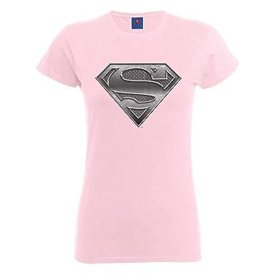 DC Comics Damen, T-Shirt, Official Superman Steel Plate Logo Womens T-Shirt:  Amazon.de: Bekleidung