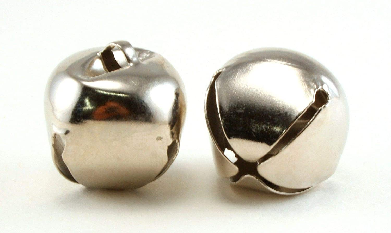 2 Inch 51mm Extra Large Giant Jumbo Silver Craft Jingle Bells Bulk 12 Pieces Art Cove