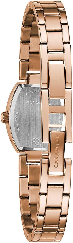 Reloj Caravelle Para Mujer 44l242 Cristal Oro Rosa