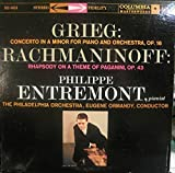 Grieg: Concerto In A Minor For Piano And Orchestra,Op.16/Rach... On A Theme Of Paganini,Op.43-Philippe Entremont.pianist-The Philadelphia Orchestra,Eugene Ormandy,Conductor - Vinyl LP Record Album