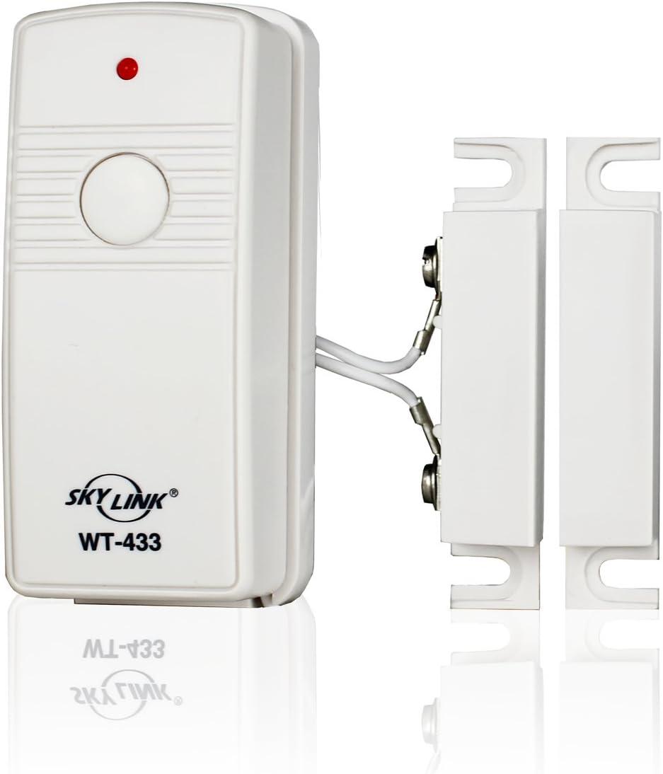 Skylink WT-433W Wireless Door & Window Burglar Alarm Alert Security Sensor | Affordable, Easy to Install DIY Accessory for SC Series Systems