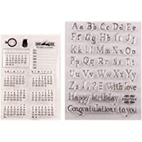 Susada Week And Month Style Calendar DIY Silicone Clear Stamp Cling Seal Scrapbook Embossing Album Decor For DIY Scrapbooking Photo Album Decoration