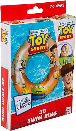 Sambro DTS-3395 - Flotador con Efecto 3D, Aprox. 50 cm, diseño de Toy Story con Woody y Buzz Lightyear para niños de 3 a 6 años, con válvula de Seguridad, Ideal para Piscina, Playa y Piscina