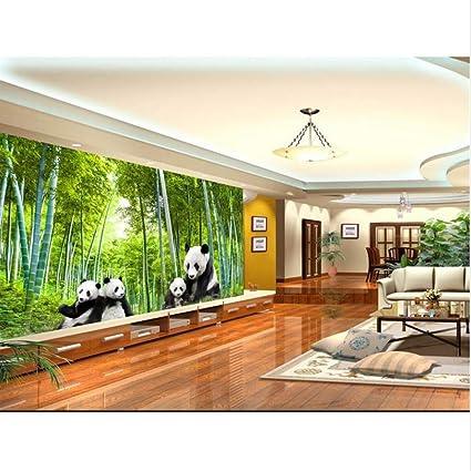 Guyuell Fondo De Pantalla Personalizado Foto 3D Salón Mural Panda ...