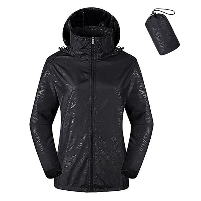 ZIMCA Unisex Packable Lightweight UV Protect Jackets Outdoor Windbreaker Quick-Dry Skin Rain Coat