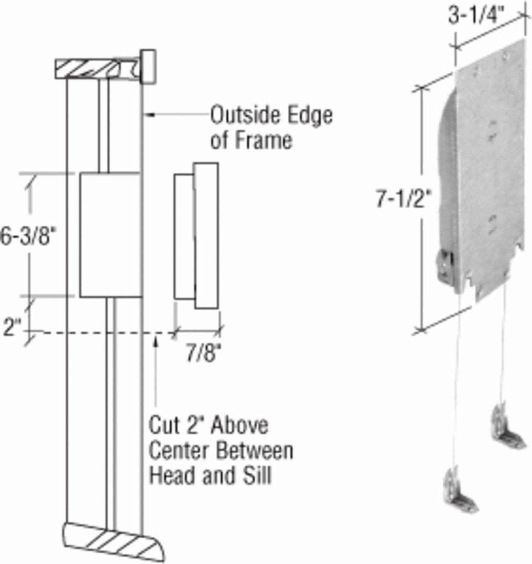 CRL Adjustable Wood Window Sash Balance 4-8 Pounds