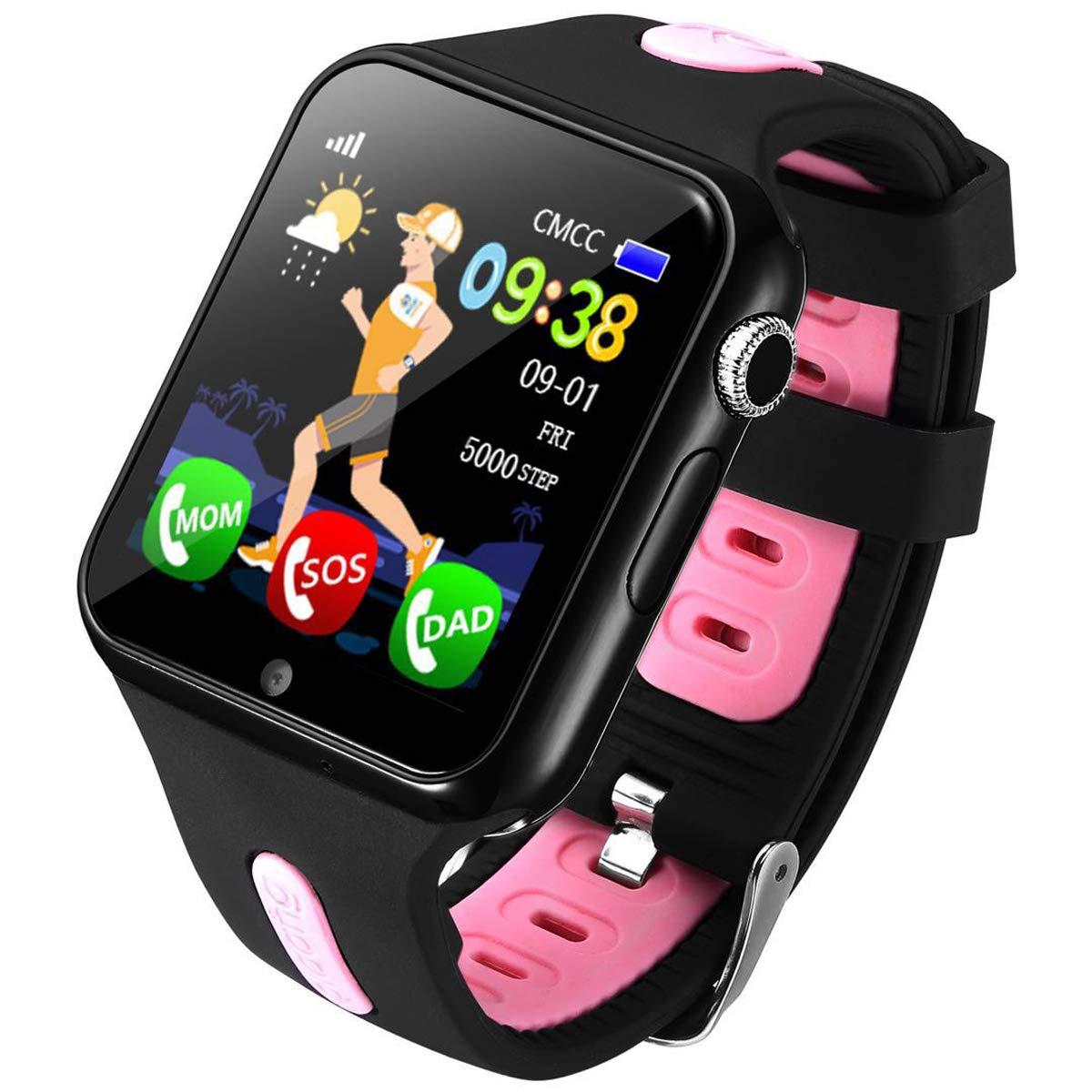 Kids GPS Watch Pedometer Call Smart Watch SOS Wrist Watch for Childrens Boys Girls Gift by Yihou