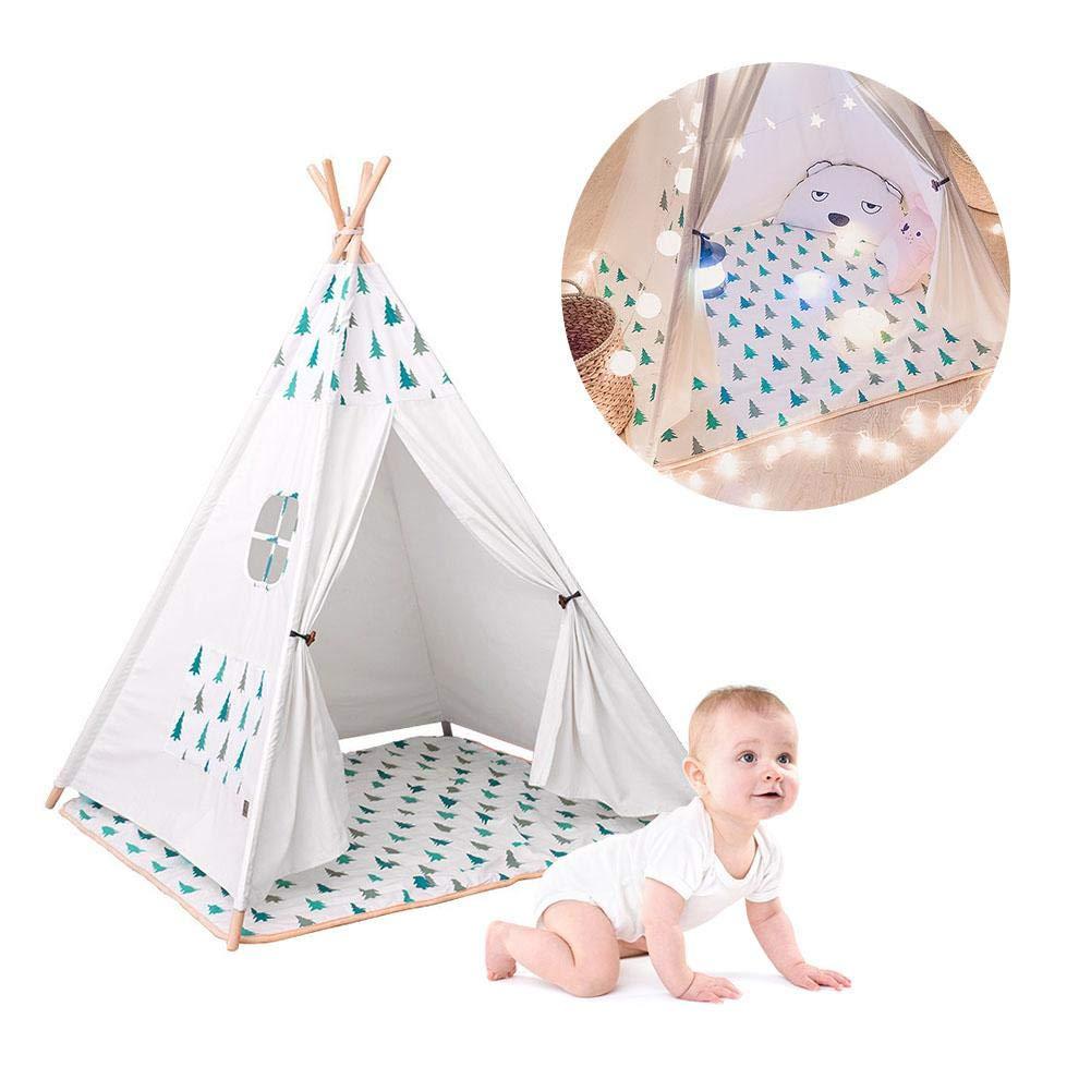 Ridecle Indian Zelt für Kinder , Classic Kids Tipi , Natural Cotton Canvas , Geschenk für Kinder Jungen Mädchen Indoor