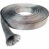 """1/2"""" Tinned Copper Metal Braided Sleeving (0.32"""" Diameter) - 10FT"""