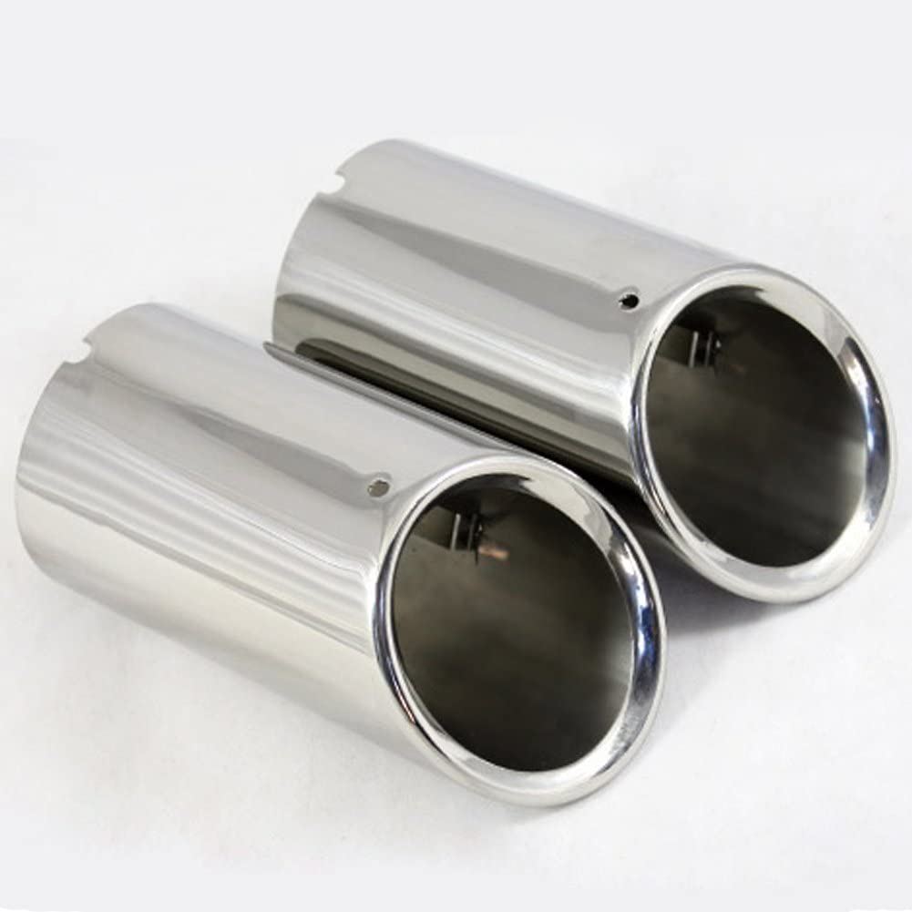 SAGITAR//POLO//GOLF 7 Color : Silver RJJX 1Pair Stainless Steel Car Exhaust Muffler Tip Pipes Covers Fit For VW Volkswagen JETTA 2009-2018