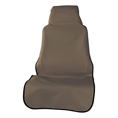 ARIES 3142-18 Seat Defender 58-Inch x 23-Inch Brown Universal Bucket Car Seat Cover Protector