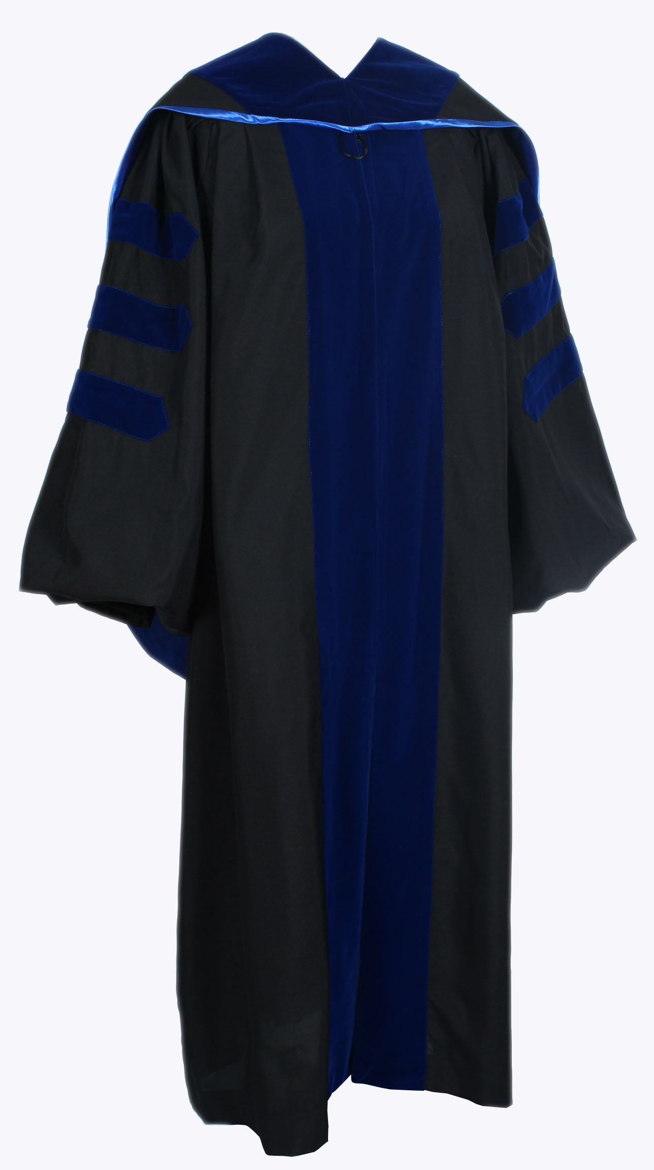 GraduationForYou Deluxe Classic Doctoral Graduation Gown and Hood Package Unisex Phd Gown