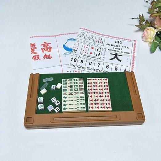 Hexiansheng Mini Portátil De Viaje Mahjong, Mesa Plegable De Mahjong For Juegos De Viaje: Amazon.es: Jardín