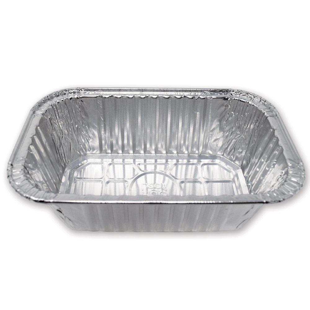 Premium 1-LB Loaf Baking Pans Mini Size 6.1 x 3.7 x 2.0 l Top Bakers Choice Aluminum Foil 120 Pack