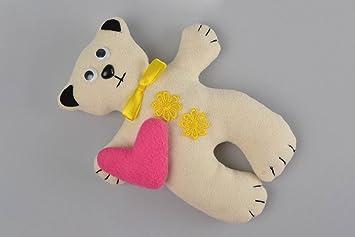 Juguete artesanal muneco de peluche regalo original Osito de forro polar