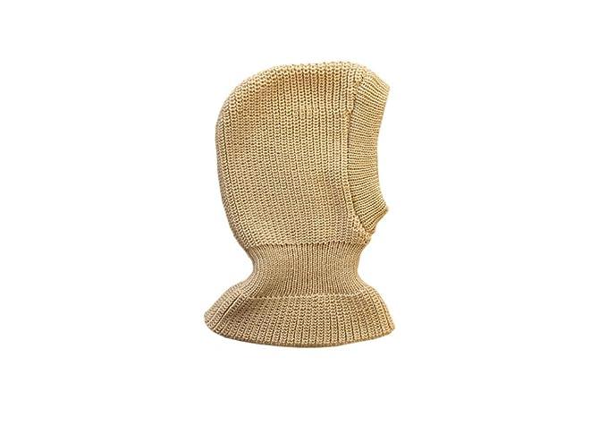 70cd3a96e237 100 % Laine de mérinos Passe-montagne bonnet Balaclava Chapeau d hiver  tricot Bébé