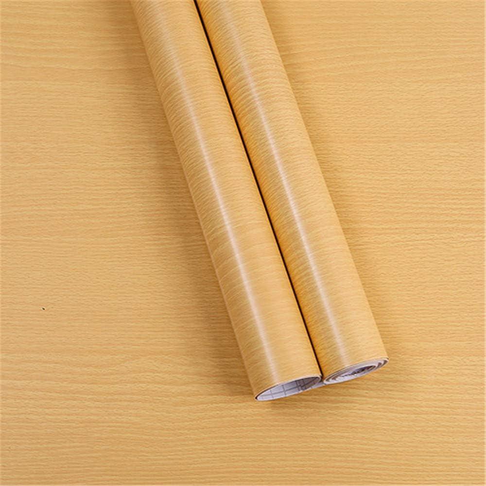 Papel tapiz papel pintado cocina autoadhesiva impermeable a prueba de aceite grano de madera armario gabinete muebles renovación pegatinas decorativas dormitorio pared pegatinas wallpaper- 45CMX10M: Amazon.es: Hogar