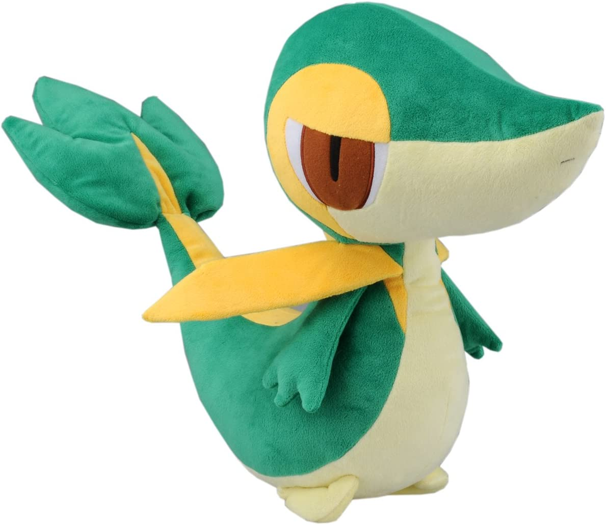 "Japanese Import Large 12/"" Tsutarja Snivy Pokemon Black /& White Plush Toy"