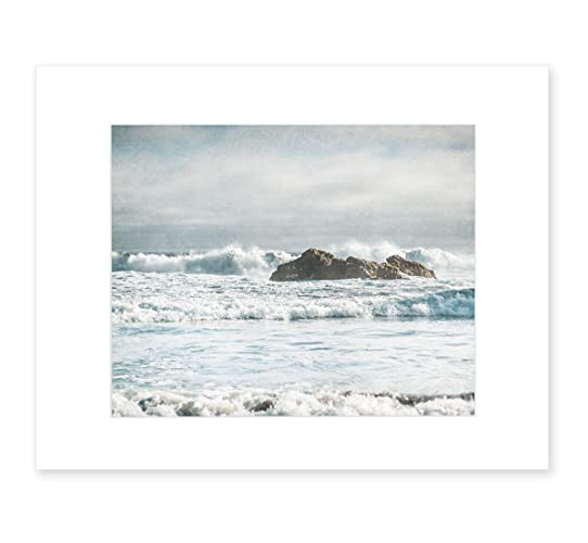 Seascape Photography, Coastal Wall Art, Nautical Ocean Waves Decor, Big Sur  Picture, 8x10 Matted Photographic Print (fits 11x14 frame), Surf and