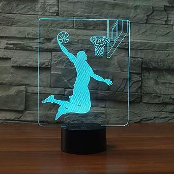 Lámpara De Ilusión 3D Led Night Light Bebe Decoración Del Hogar El ...