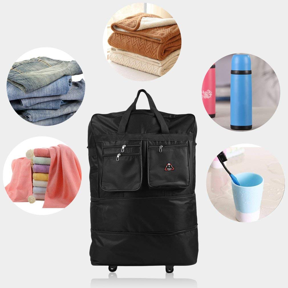 Homgrace Rolling Wheeled Duffle Bag Large Capacity Spinner Suitcase Luggage Wheel Bag for Outdoor Travel by Homgrace (Image #5)