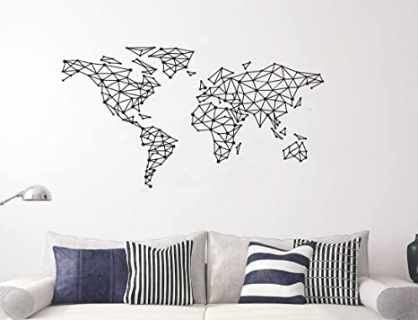 Art removable wall decal geometric design world map decals special art removable wall decal geometric design world map decals special geometric world map decor sticker for gumiabroncs Choice Image