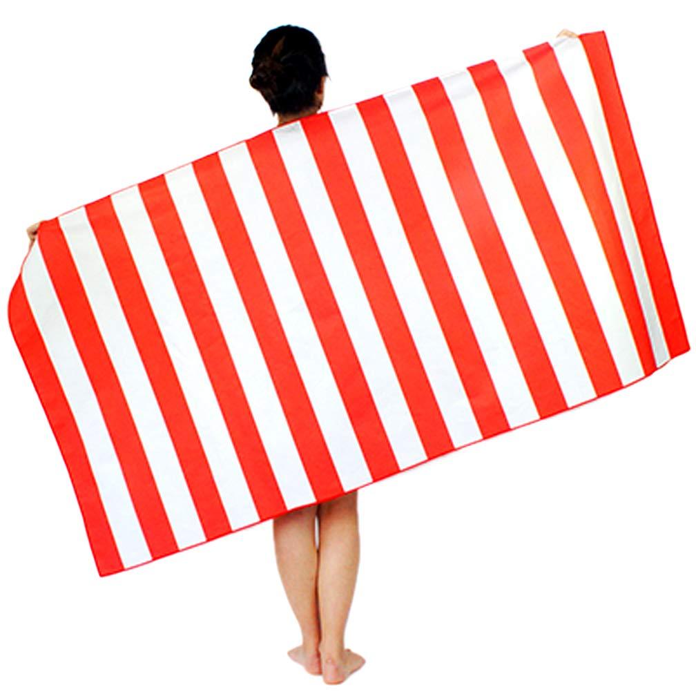DECJ Toalla de Playa de Microfibra, Toalla de Playa de Viaje portátil Libre de Arena, Toalla de Yoga, Ultra Absorbente y de Secado rápido Piscina, ...