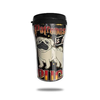edc4517dd06 FTRGRAFE My Patronus is A Pug Travel Coffee Mug 3D Printed Portable Vacuum  Cup,Insulated
