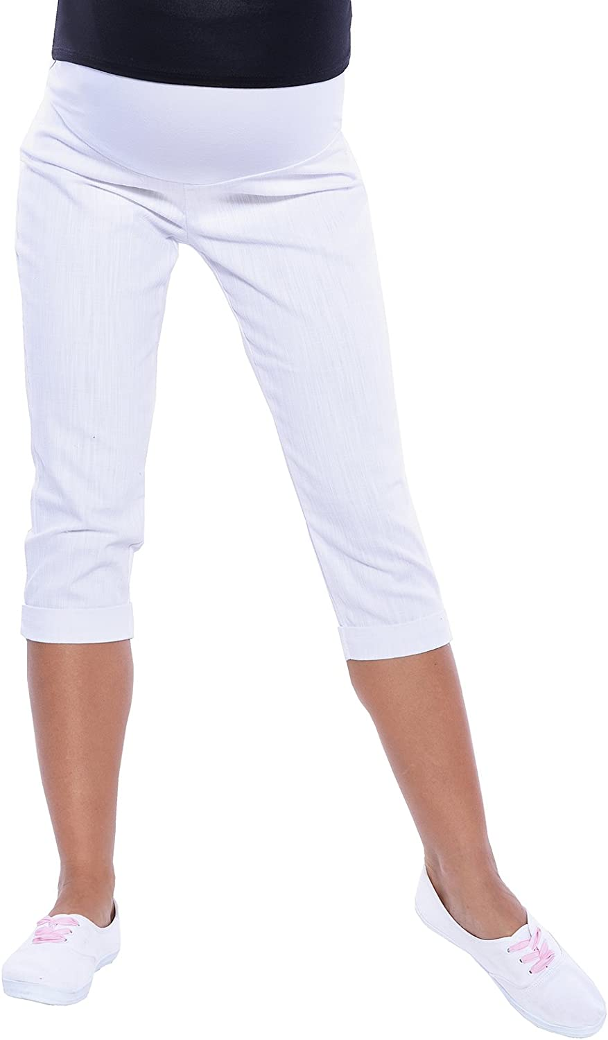 Maternity Cropped Trousers Over Bump ADJUSTABALE 3012 Mija