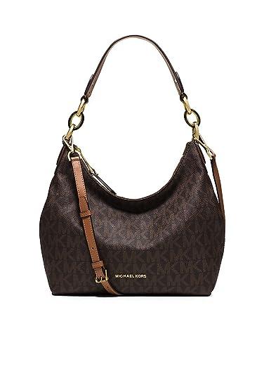 b78c52428085 Amazon.com  Michael Kors Isabella Signature Convertible Hobo Bag Brown   Shoes