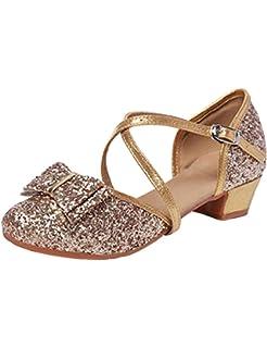 accac049f SPDYCESS Niñas Zapatillas de Baile de Tango Latino Zapatos de Lentejuelas  Zapatos de Fiesta de Niños