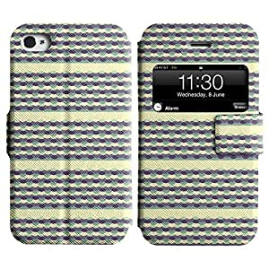 Be-Star Colorful Printed Design Slim PU Leather View Window Stand Flip Cover Case For Apple iPhone 4 / 4S ( Amazing Pattern ) Kimberly Kurzendoerfer