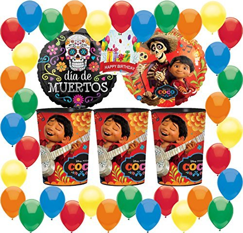 Combined Brands Coco Party Supplies Birthday Favor Cups Balloons Decorations Bundle by Combined Brands
