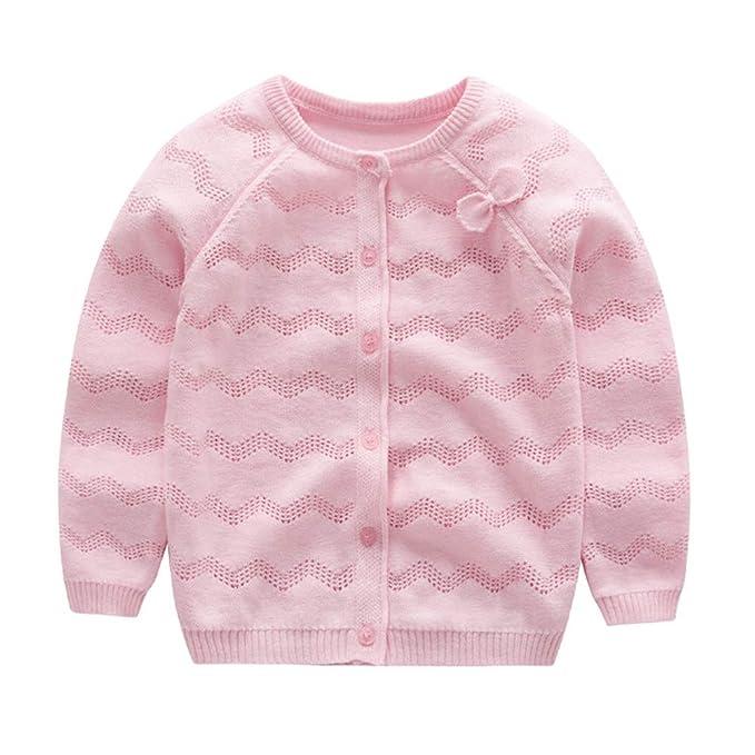 8d5f6c553b2a Amazon.com  KIMJUN Toddler Baby Girls Cardigan Sweater Kid Cotton ...