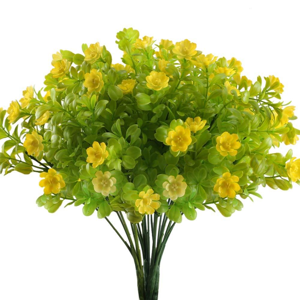 Nahuaa 4pcs Artificial Flowers Bushes Fake Babys Breath Plants