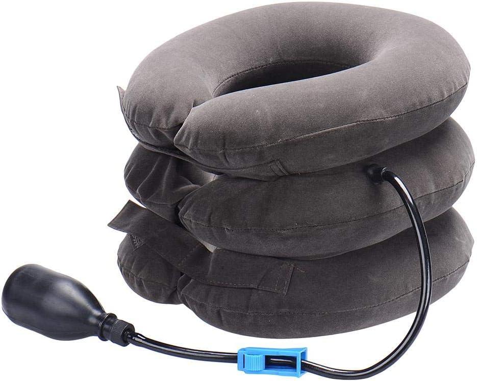 Coussin Protecteur Cou Soulagement Instantan/é Pour La Douleur Chronique Au Cou Et Aux /Épaules Soulage La Compression De La Colonne Vert/ébrale Dispositif De Traction De Cou Cervical Gonflable