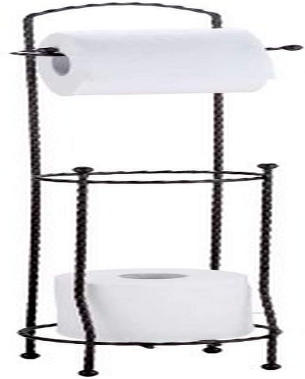 Home Basics Free-Standing Dispensing Toilet Paper Holder, Bath Tissue Organizer, Bathroom Accessory and Storage, Bronze
