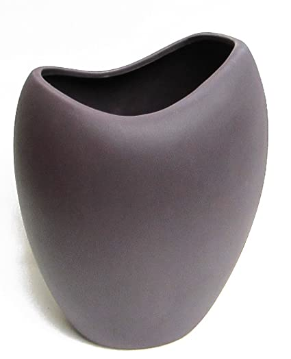 Amazon Napco Ceramic Oval Vase Large Purple Home Kitchen