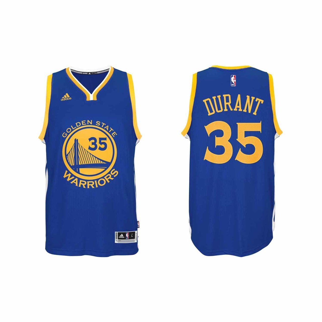 b41d222b Amazon.com : Golden State Warriors Kevin Durant Adult Swingman Jersey -  Royal #35, : Sports & Outdoors