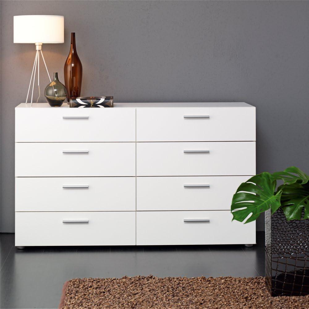 8 Drawer Double Dresser White Amazon Co Uk Kitchen Home