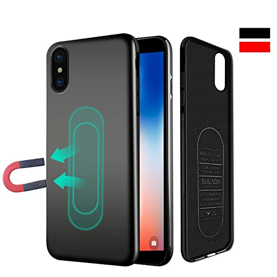 new arrival 09772 9e936 Case for iPhone X/XS,Ultra Thin Magnetic Phone Case for Magnet Car Phone  Holder with Invisible Built-in Metal Plate,Soft TPU Shockproof Anti-Scratch  ...
